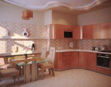 Őszibarack színű a konyhában
